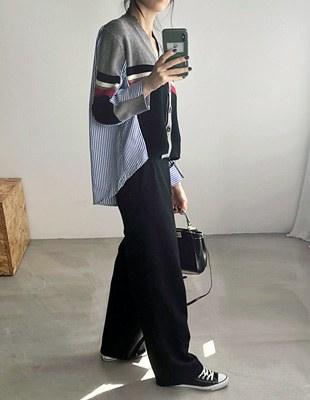 Block-in cardigan - 2c