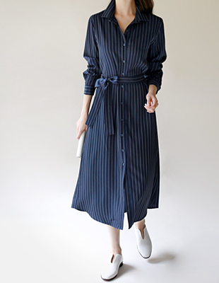 rei striped long shirt dress