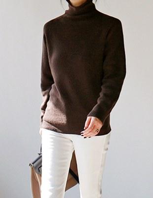 Core cashmere turtleneck - 4c