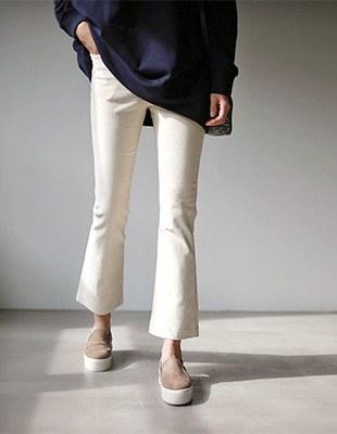 Ginger corduroy bootcut pants - 3c