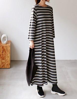 Harry Stripe Long Dress - 2c