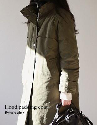 hood padding coat - 2c