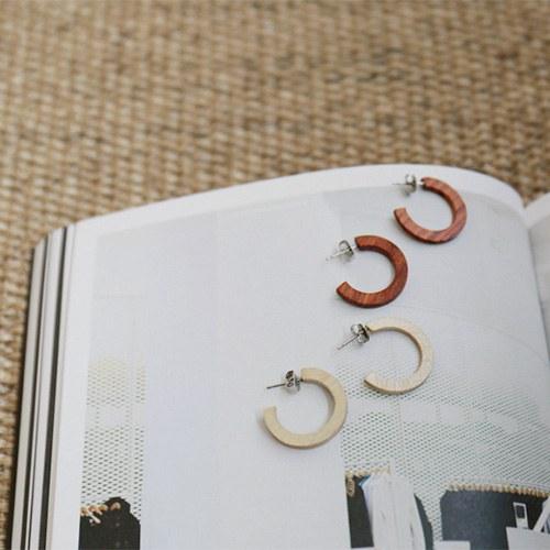 Woodring Earrings - 2c