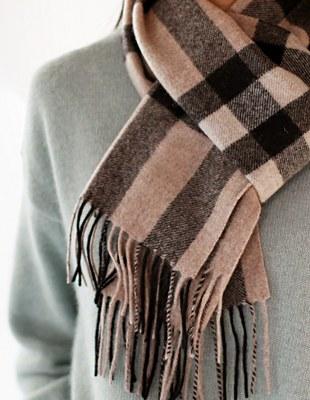wool check muffler - 3c
