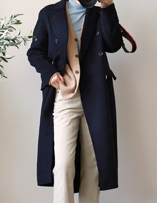 Double Handmade Long Coat - 3c