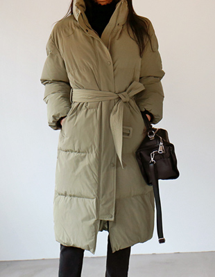 Belted padded coat - 2c