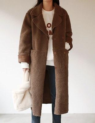 Brown fleece coat