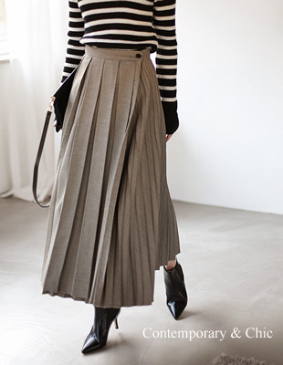 Wrap pleated skirt - 2c