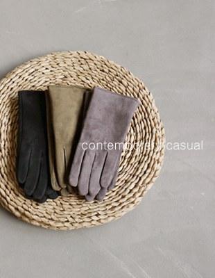 Suede fur gloves - 3c