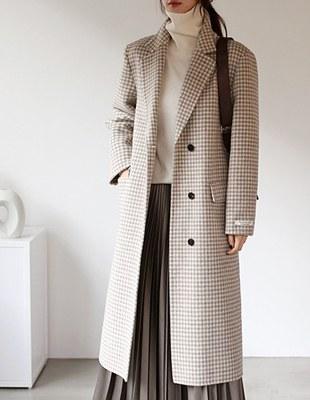 Gingham check handmade coat - 2c