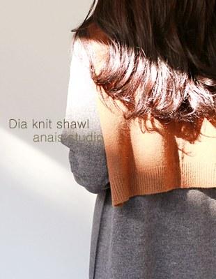 dia knit shawl - 5c