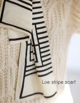 Roe stripe scarf - 2c