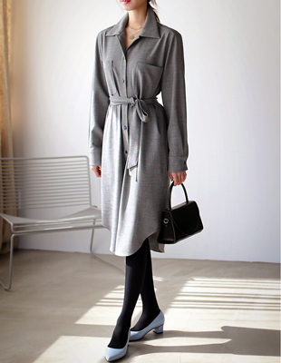 Quartz Long Shirt Dress