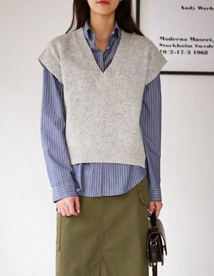 evident knit - vest