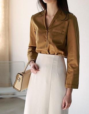 Shawl collar f60 shirt
