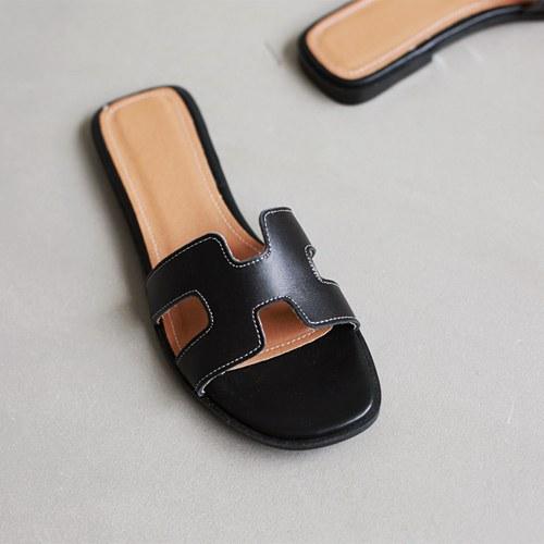 her leather slider