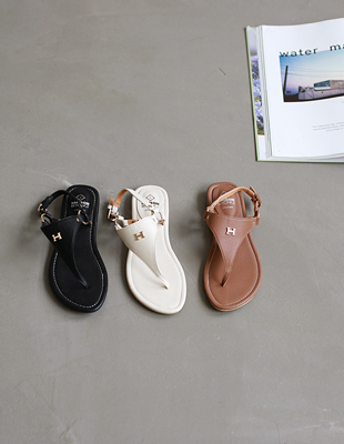H - flip flop sandals