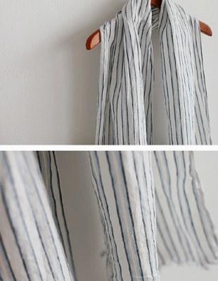 stripe linen muffler