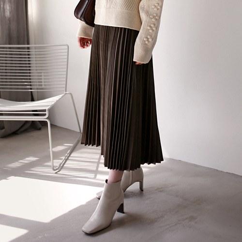 Remi leather pleats sk