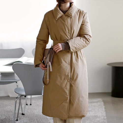 Duckdown Belt Long coat