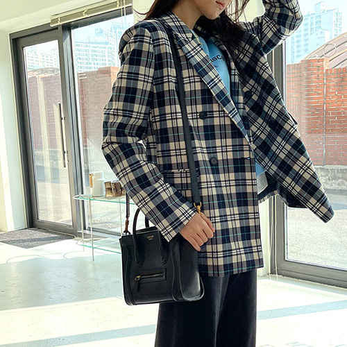 Bright Check Double Jacket