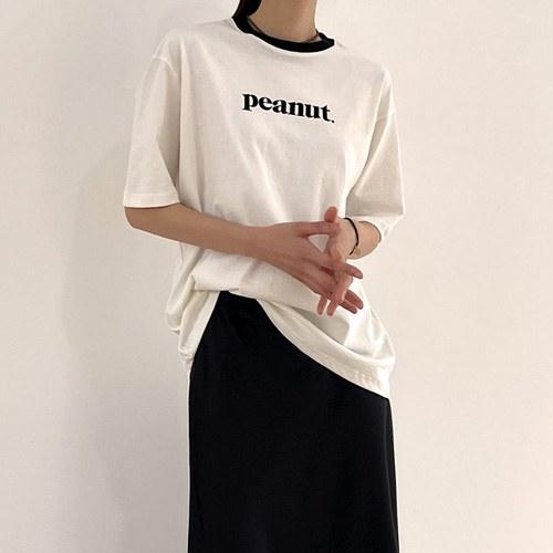 Peanut Half Sleeve Tee